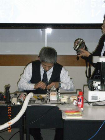 吉村 考摂先生マウスガード製作風景